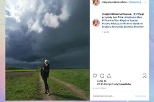 """Małgosia Kożuchowska podziwia potęgę przyrody """"bez filtra"""""""