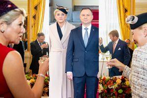 Ubawiona Agata Kornhauser-Duda stuka się kieliszkiem z królową Holandii (ZDJĘCIA)