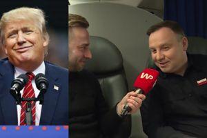 """Andrzej Duda wyznaje, że lubi... Donalda Trumpa: """"Mnie się dobrze z nim rozmawia"""""""