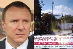 """TVP Info pomyliła pomnik Piłsudskiego z... GROBEM! """"Jacku Kurski, ogarnij tych matołów od pasków!"""""""
