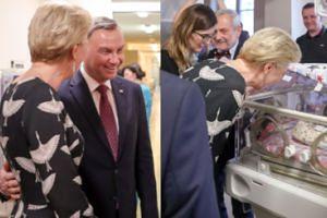 Zachwyceni Andrzej i Agata Dudowie odwiedzili sześcioraczki w krakowskim szpitalu (FOTO)
