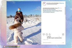 Ania i Klarcia też cieszą się ze śniegu