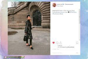 Zblazowana Jessica Mercedes rozsiewa swój urok po paryskich ulicach