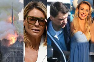 ZDJĘCIA TYGODNIA: Pożar Notre Dame, kłopoty Bieniuka, Wielkanoc Majdanów i baby shower Janachowskiej