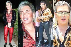 """Wystylizowany """"Żywy Ken"""" kokietuje paparazzi w Los Angeles. Dobrze się ubiera? (ZDJĘCIA)"""