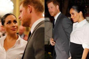 Książę Harry i ciężarna Meghan zachwycają na czerwonym dywanie charytatywnej gali (FOTO)
