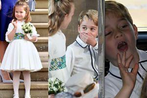 Dostojna księżniczka Charlotte i rozbrykany książę George na weselu księżniczki Eugenii (ZDJĘCIA)