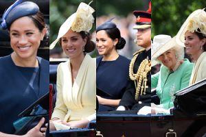"""Meghan Markle wróciła do """"pracy"""" po porodzie! Urodziny królowej Elżbiety świętowała z księżną Kate (ZDJĘCIA)"""
