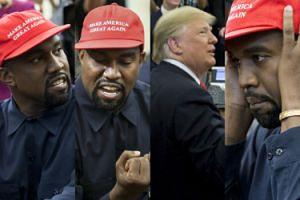 PSYCHOPATYCZNY Kanye West popisuje się na spotkaniu z Donaldem Trumpem (ZDJĘCIA)