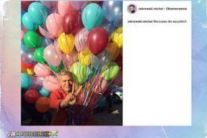 Michał Żebrowski w balonach wie, kto wygra w wyborach