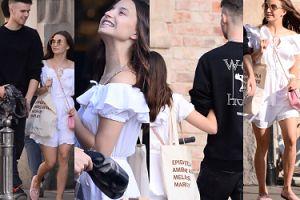 Dziewczęca Julia Wieniawa trzyma pod rękę Jeremiego Sikorskiego w drodze na obiad (ZDJĘCIA)