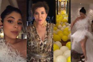 """22. urodziny Kylie Jenner: """"suknia ślubna"""", panterkowa Kris i Scott Disick z Sofią Richie (ZDJĘCIA)"""