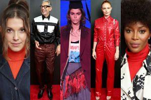 Millie Bobby Brown, Naomi Campbell i Jeff Goldblum bawią się na pokazie Calvina Kleina (ZDJĘCIA)