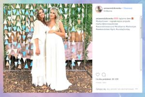 Ciężarna Wendzikowska bawi się na baby shower koleżanki