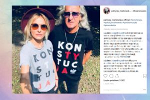 Markowska z ojcem też bronią konstytucji na Instagramie