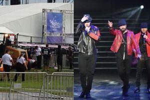 KATASTROFA BUDOWLANA przed koncertem Backstreet Boys! Na fanów spadły elementy konstrukcji wejścia do klubu