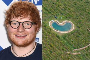 Ed Sheeran zbudował nielegalny basen za PONAD DWA MILIONY i ogrodził go płotem!