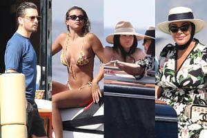 Rodzina Kardashianów wypoczywa przed 22. urodzinami Kylie Jenner na luksusowym jachcie we Włoszech (ZDJĘCIA)