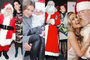 Już po prezentach? Zobaczcie, jak wyglądały celebrytki, gdy spotkały Świętego Mikołaja (ZDJĘCIA)