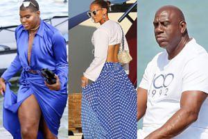 Jennifer Lopez pokazała majtki z okazji 60. urodzin Magica Johnsona. Stylizacja jego syna również nie pozostawiła wiele miejsca wyobraźni (FOTO)
