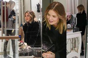 Rozanielona Maja Sablewska buszuje w sklepie z bielizną (ZDJĘCIA)
