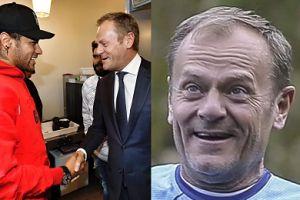Donald Tusk spotkał się z Neymarem. Kto komu bardziej zaimponował? (FOTO)