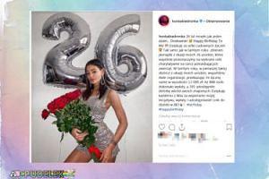 Honorata Skarbek składa sobie życzenia z okazji urodzin