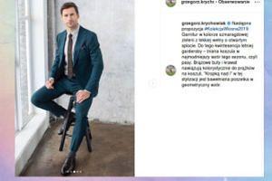Grzegorz Krychowiak pozuje niczym rasowy model