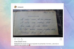 """Doda pokazała wpis dziadka: """"Dla mnie to najlepsza rada na każde czasy"""""""