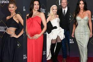 """Celebryci pozują na People's Choice Awards 2019: ciężarna Jenna Dewan, Zendaya, Kardashianki i gwiazdy """"Riverdale""""(ZDJĘCIA)"""
