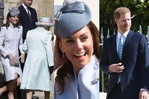Rozpromieniona księżna Kate oddaje pokłon królowej przed wielkanocną mszą (ZDJĘCIA)