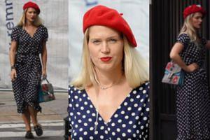 Ślotała wykazuje się ułańską fantazją brylując po ulicach Warszawy w stroju paryżanki (WIDEO)