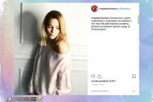 """Wstydliwa Maja Bohosiewicz """"gra ramionkiem"""" na Instagramie"""