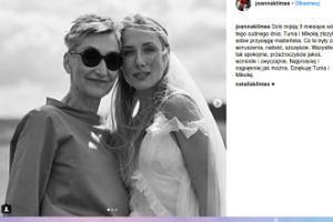 Joanna Klimas gratuluje córce