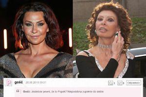 """Anna Popek NIE PRZYPOMINAŁA SIEBIE na pokazie Gosi Baczyńskiej. """"Pierwsza myśl - Sophia Loren"""" (ZDJĘCIA)"""