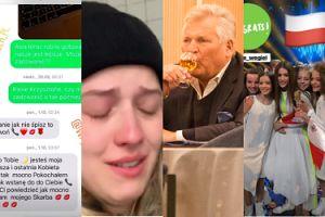 ZDJĘCIA TYGODNIA: Płacząca Jessica Mercedes, pijący Kwaśniewski, SMS-y Wodzianki... (ZDJĘCIA)