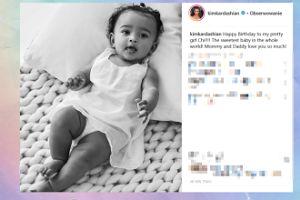 Kim Kardashian składa życzenia najmłodszej córeczce