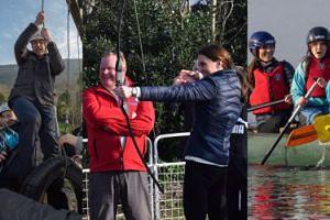 Wysportowana Kate Middleton pływa kajakiem i próbuje swoich sił w łucznictwie (ZDJĘCIA)