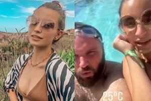 Włoskie wakacje Julii Wieniawy! Wskoczyła do basenu ze znanym przyjacielem