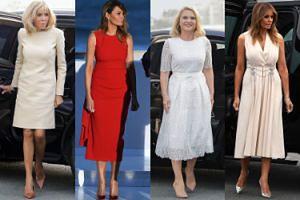 Szczyt G7: Melania Trump, Brigitte Macron, Małgorzata Tusk w drogich kreacjach z największych domów mody (ZDJĘCIA)
