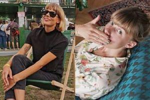 """Odmieniona Marta Wierzbicka pozuje na leżaku. Fanka: """"Przypominasz mi ANNĘ WINTOUR!"""" (FOTO)"""