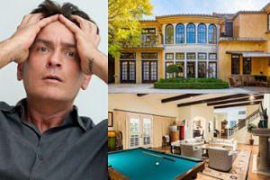 Charlie Sheen nie może sprzedać domu, w którym imprezował z prostytutkami! Obniżył cenę już o 1,5 miliona dolarów... (ZDJĘCIA)