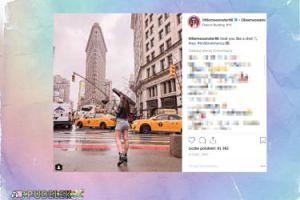 Angelika Mucha przechadza się po Nowym Jorku