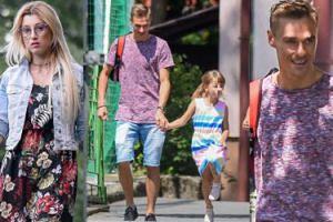 Piotr Żyła z matką odwozi dzieci do Justyny po wspólnym weekendzie (ZDJĘCIA)