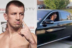 Tomasz Adamek grozi palcem z nowego Mercedesa za 400 tysięcy (FOTO)