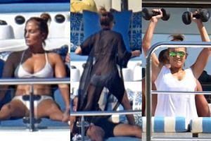 49-letnia Jennifer Lopez ĆWICZY NA JACHCIE (ZDJĘCIA)