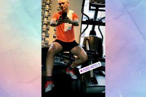 Robert Biedroń promienieje na siłowni