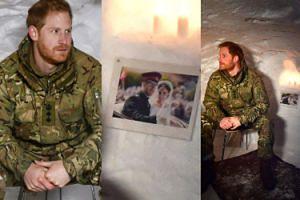 Smutny i zmarznięty książę Harry siedzi w igloo ze zdjęciem Meghan Markle (FOTO)