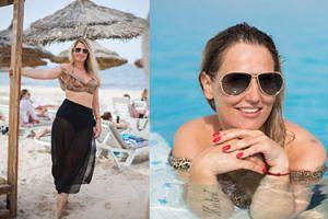 """Dominika Tajner korzysta z życia na wakacjach w Tunezji. """"Kilka dni nad morzem pomoże jej dojść do siebie"""" (FOTO)"""