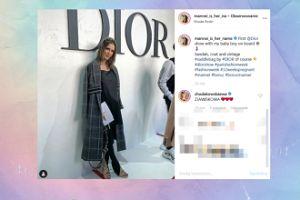 Ciężarna Sara Boruc na pokazie Diora